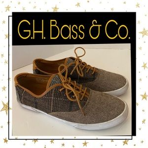 G.H. Bass & Co. Plaid Tweed Women's Sneakers 10